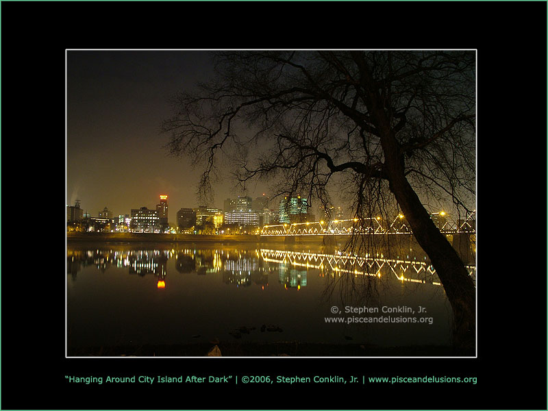 Hanging Around Harrisburg PA's City Island After Dark, by Stephen Conklin, Jr. - www.pisceandelusions.org