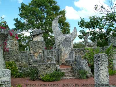 Inside the Coral Castle Courtyard