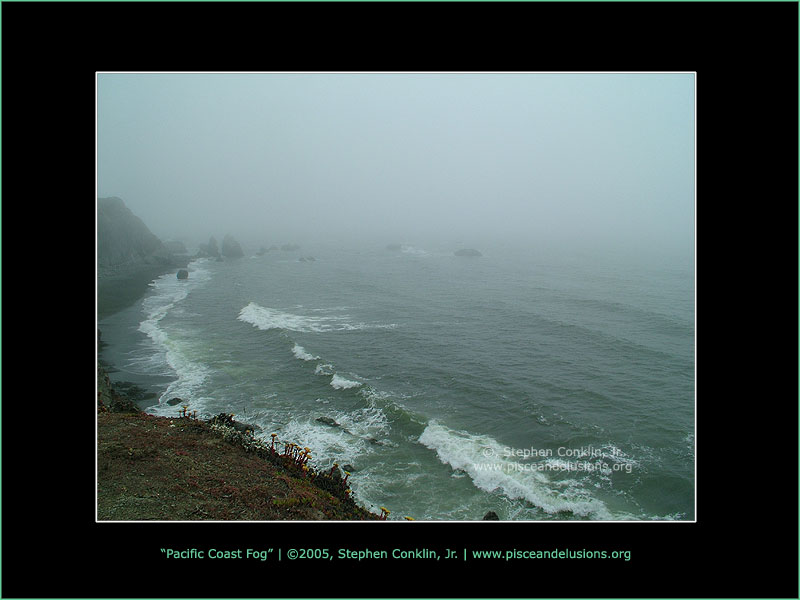 Pacific Coast Fog, by Stephen Conklin, Jr. - pisceandelusions.org
