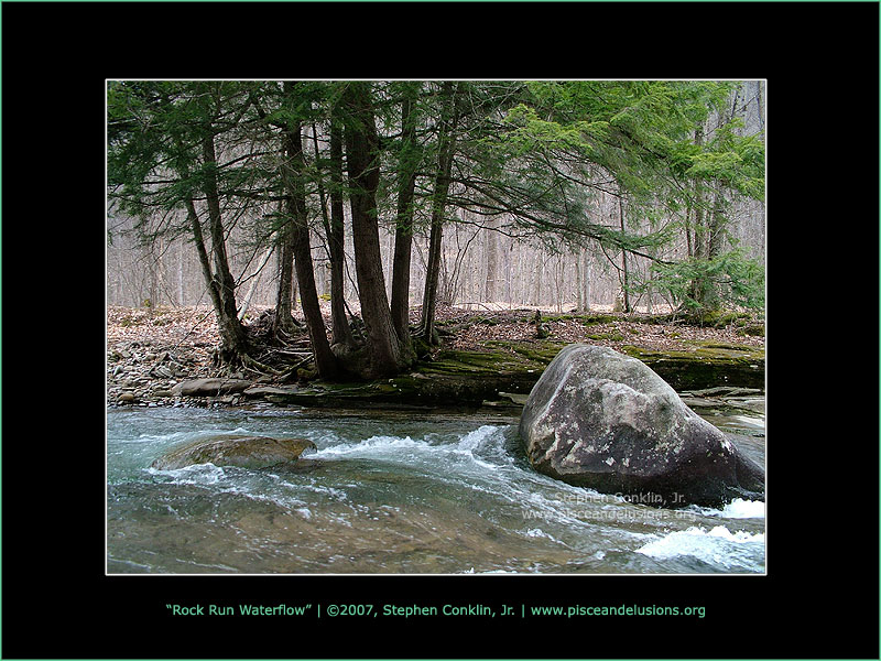 Rock Run Waterflow, by Stephen Conklin, Jr. - www.pisceandelusions.org