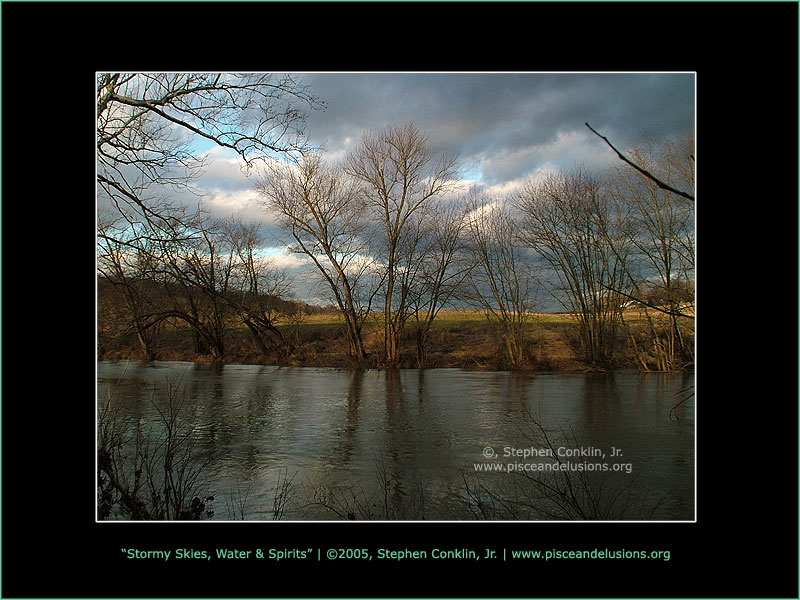 Stormy Skies, Water & Spirits, by Stephen Conklin, Jr. - www.pisceandelusions.org